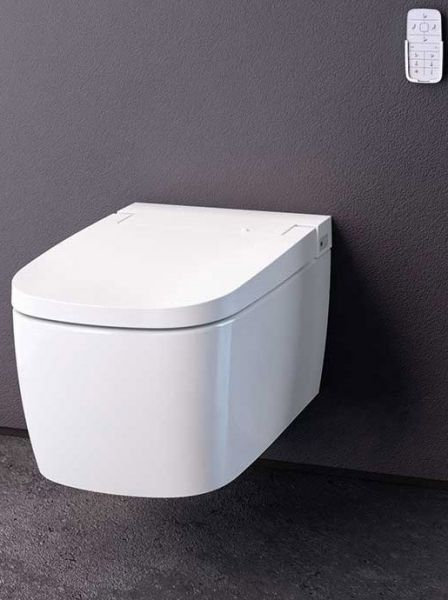 vitra wand wc komplettset sp lrandlos mit dusch wc sitz weiss inkl touch fernbedienung dusch. Black Bedroom Furniture Sets. Home Design Ideas
